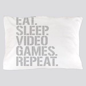 Eat Sleep Video Games Repeat Pillow Case